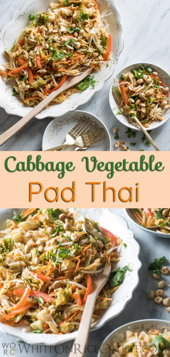 Easy and Healthy Pad Thai Recipe from @whiteonrice