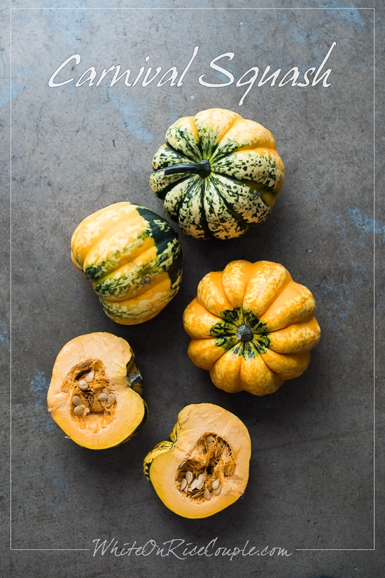 Winter Squash and Pumpkin Guide: Carnival Squash | @whiteonrioce