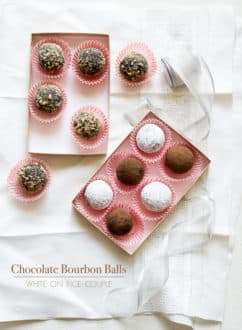 Chocolate Bourban Balls Recipe or Rum balls Recipe @whiteonrice