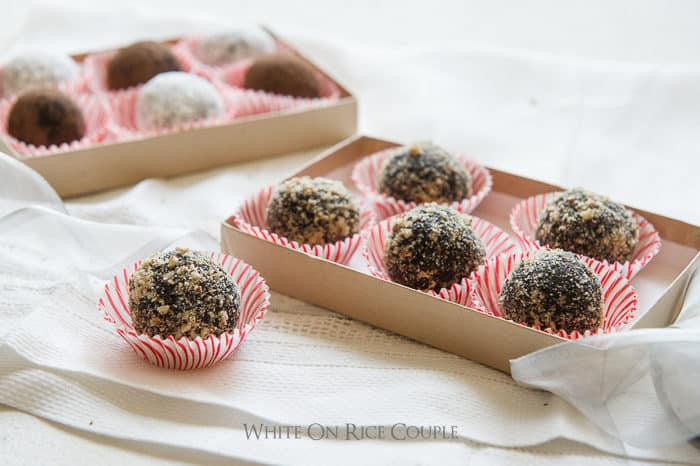 Chocolate Bourban Balls Recipe or Rum balls Recipe @whiteonrice