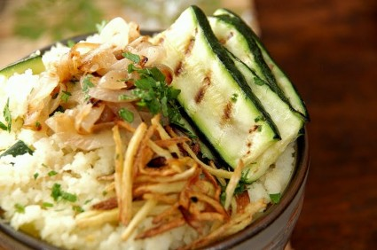 Couscous ginger zucchini shallot 023