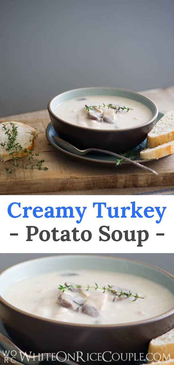 Creamy turkey potato soup recipe