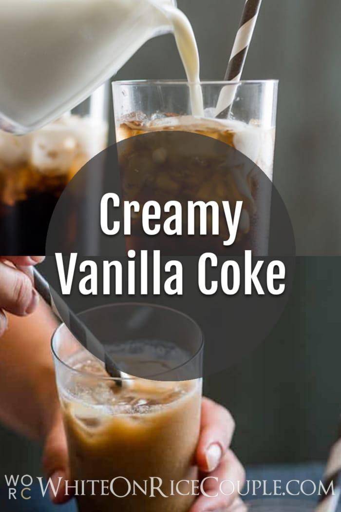 Creamy Vanilla Coke from @whiteonrice