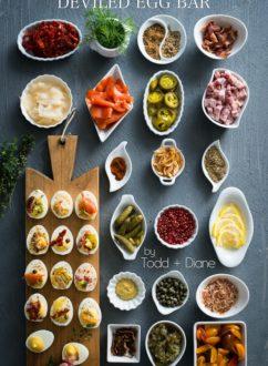 Deviled Egg Recipe for deviled egg bar brunch recipes | WhiteOnRiceCouple.com