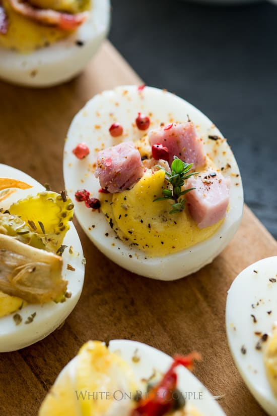 ham and cheese egg on board