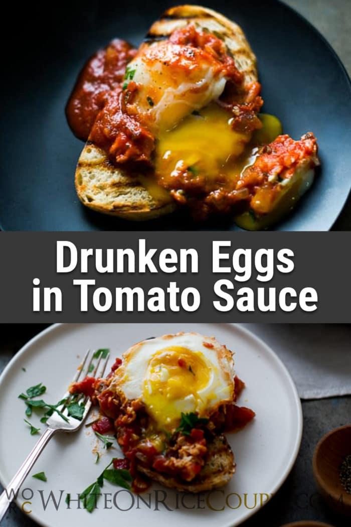 Poached Eggs in Tomato Sauce Shakshuka or Shakshouka Recipe   @whiteonrice