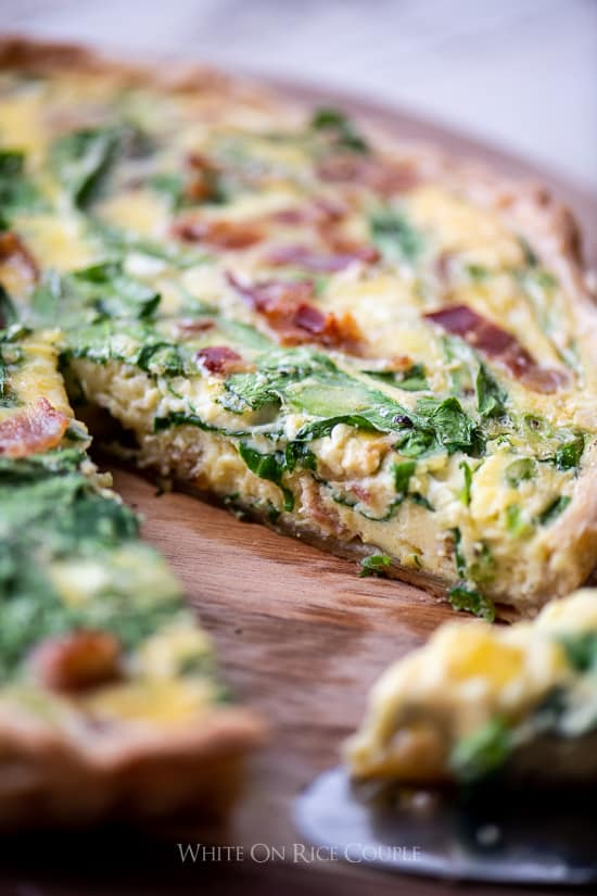 Easy Quiche Lorraine Recipe and Best Quiche Recipe for Breakfast Brunch Easter @WhiteOnRice