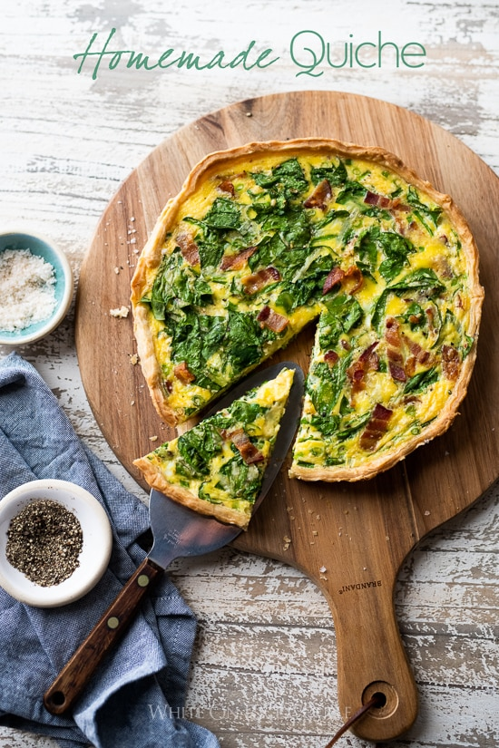 Easy Quiche Lorraine Recipe With Spinach Bacon Or Ham Easter Quiche
