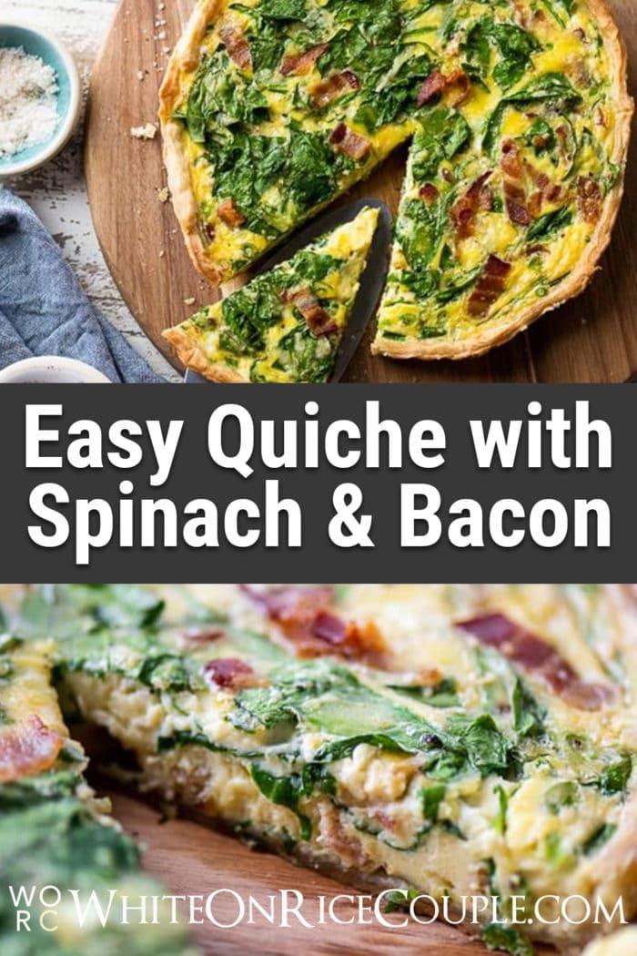 Easy Quiche Lorraine Recipe and Best Quiche Recipe for Breakfast Brunch Easter @WhiteOnRice