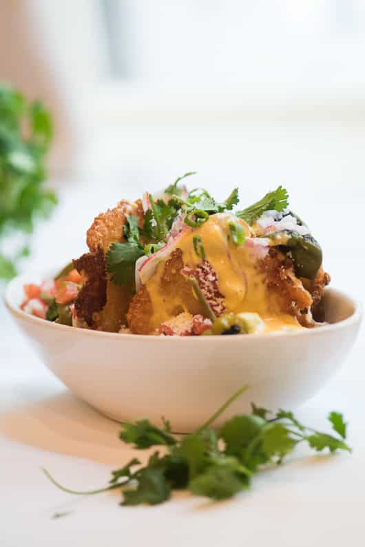 Totchos: Tater Tot Nachos with all the trimmings   @whiteonrice