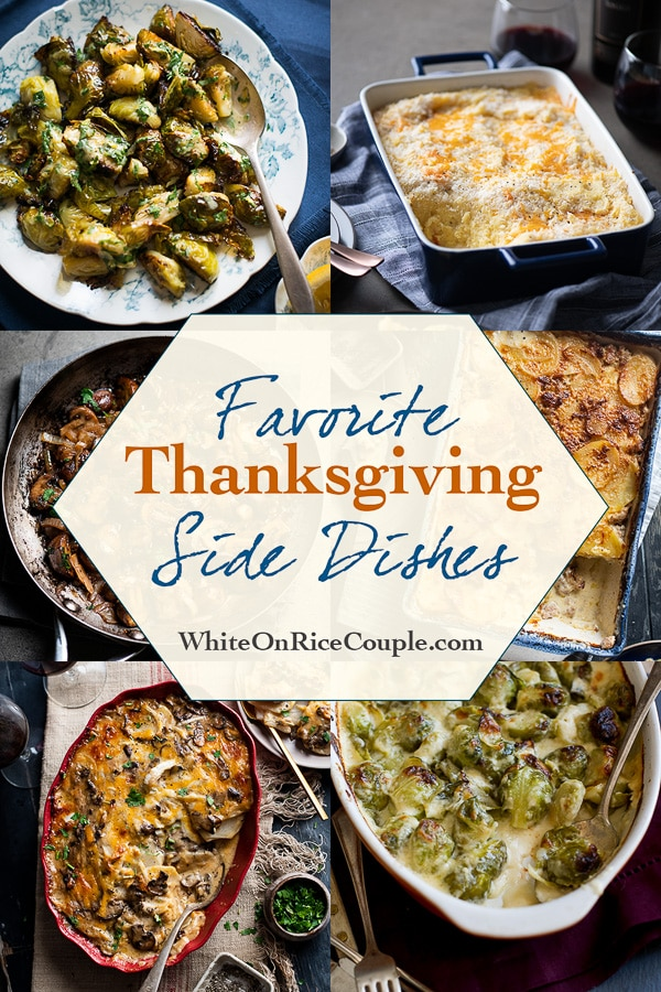 Best and Easy Thanksgiving Side Dishes like Potatoes and Brussels Sprouts | @whiteonrice