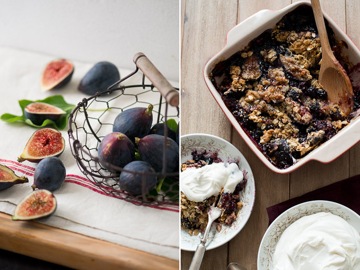 Perfect for Fig Season: Fig and Blueberry Crisp Recipe on WhiteOnRiceCouple.com