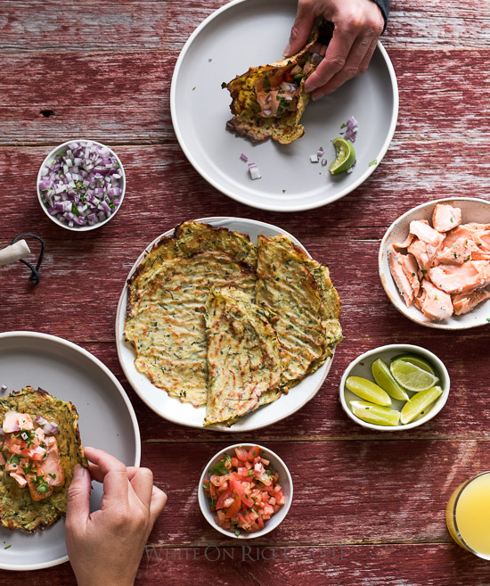 Zucchini Soft Taco Shells Recipe or Zucchini Tortillas Recipe | @whiteonrice