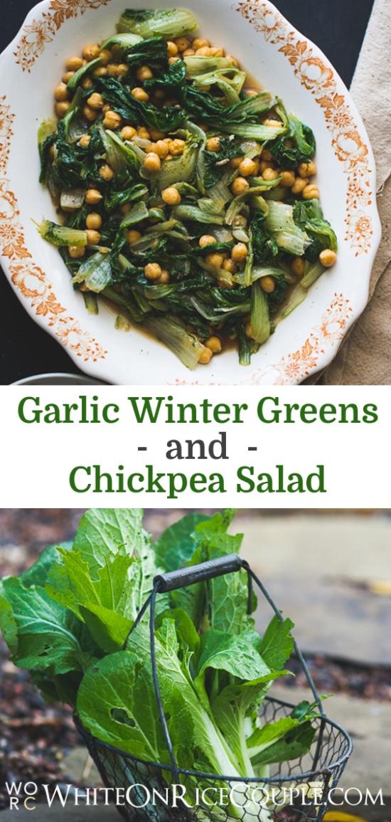 Garlicky Salad Recipe on WhiteOnRiceCouple.com