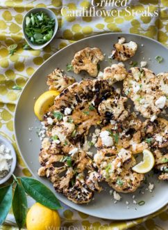 Grilled Cauliflower Steaks Recipe BBQ Cauliflower Recipe | @whiteonrice