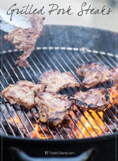 Grilled Pork Steaks Recipe on BBQ with Asian Vietnamese Marinade by WhiteOnRiceCouple.com
