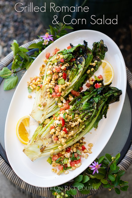 Grilled Romaine and Corn Salad