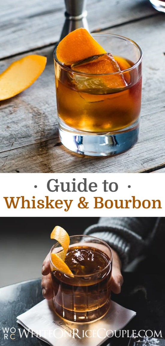 Whiskey Guide: Difference between Scotch, Bourbon, Rye, Whiskey | @whiteonrice