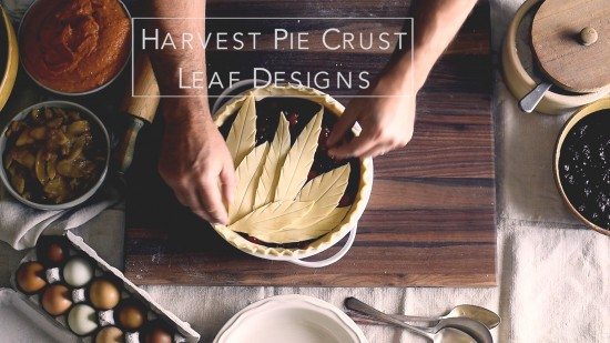 Tutorial on How to Make Leaf Pie Designs. Leaf Pie Dough for Holiday Pie Designs Thanksgiving Pie Design | @whiteonrice