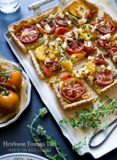 Heriloom Tomato Tart Recipe | WhiteOnRiceCouple.com