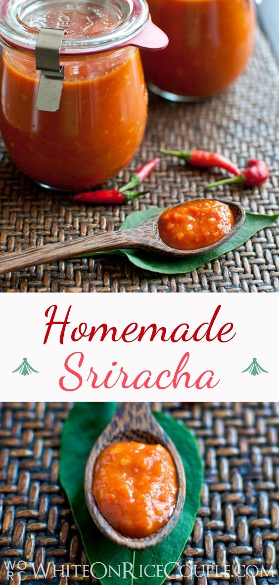 Homemade Sriracha recipe | @whiteonrice