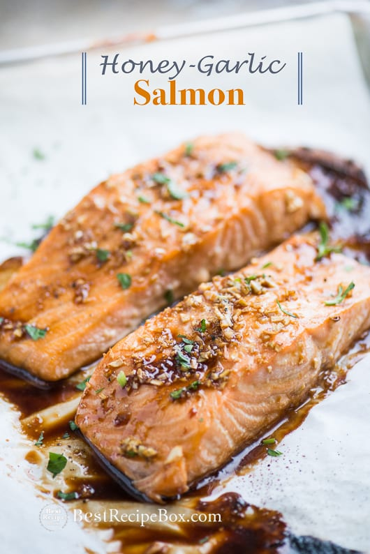 Honey-Garlic-Salmon Recipe @bestrecipebox