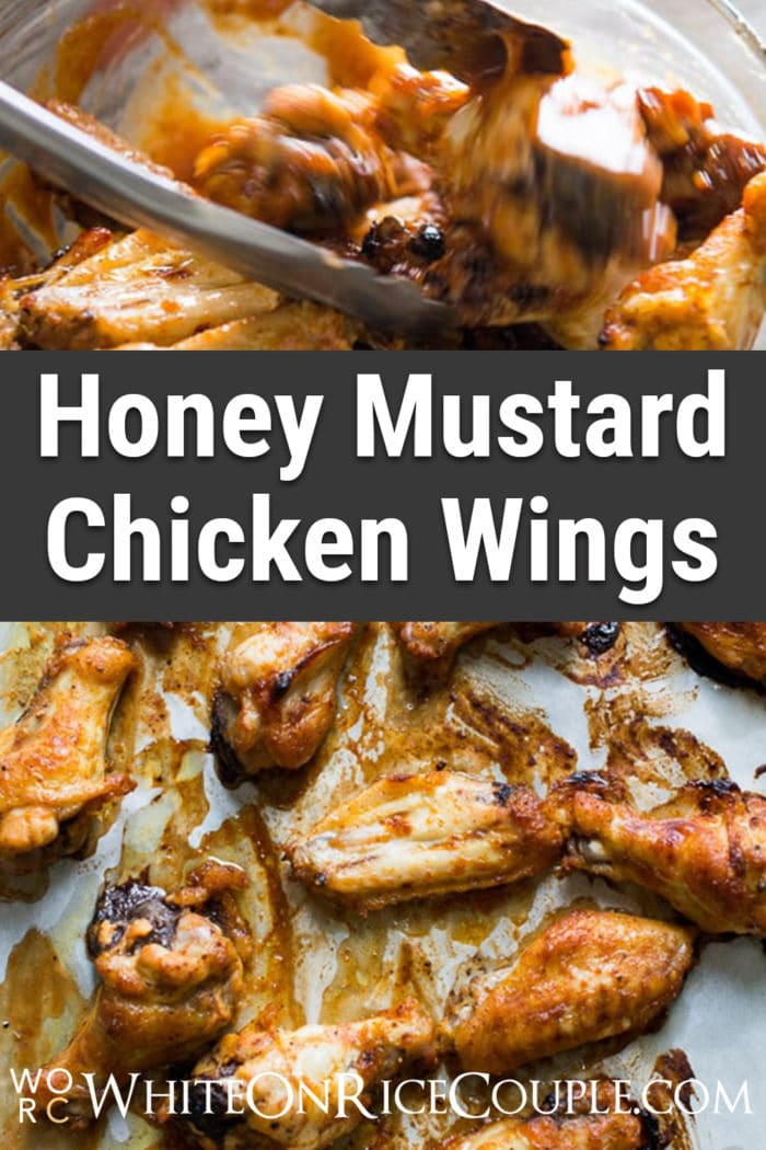 Popular Honey Mustard Chicken Wings . Sauce is so good, you'll lick your fingers. | @whiteonrice