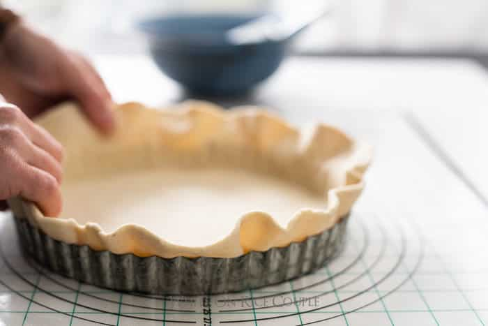 How to blind bake crust for pies or quiches @whiteonrice