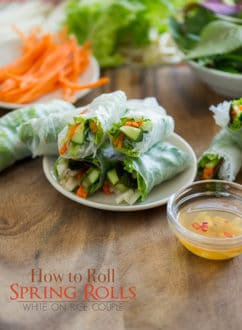 How To Roll Spring Rolls WhiteOnRiceCouple.com
