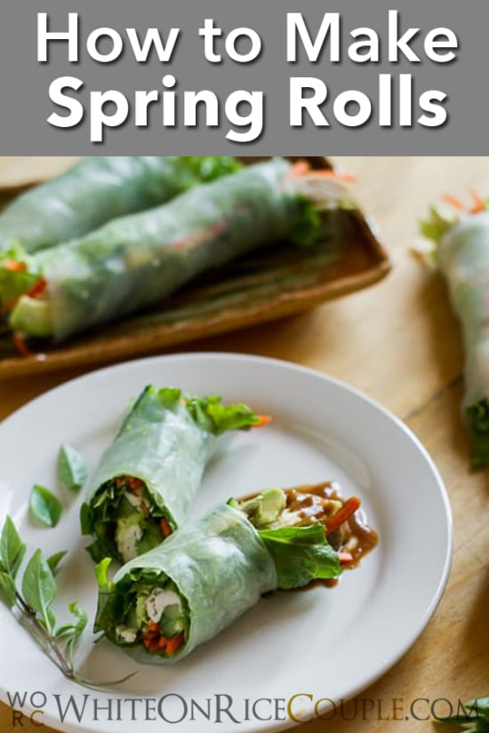 Vietnamese Shrimp Spring Rolls Summer Rolls @whiteonrice