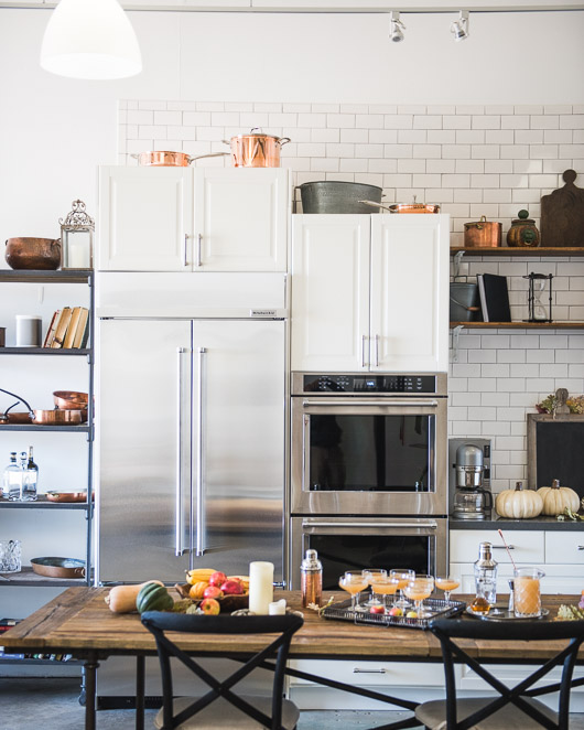 White Kitchen Design, Subway Tile at Todd & Diane Studio White On Rice Couple | @whiteonrice