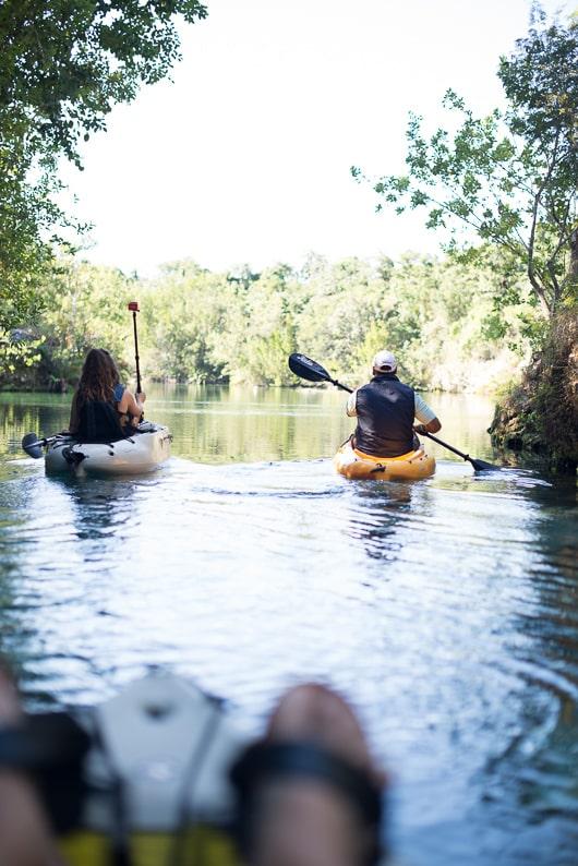 Kayaking in Fairmont Mayakoba, Riviera Maya @whiteonrice