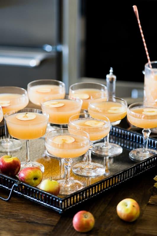 Apple Whiskey Sidecar Cocktail Recipe   @whiteonrice