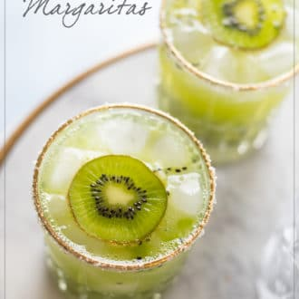 Kiwi Margarita Recipe and Easy Kiwi Cocktail Recipe - WhiteOnRiceCouple.com