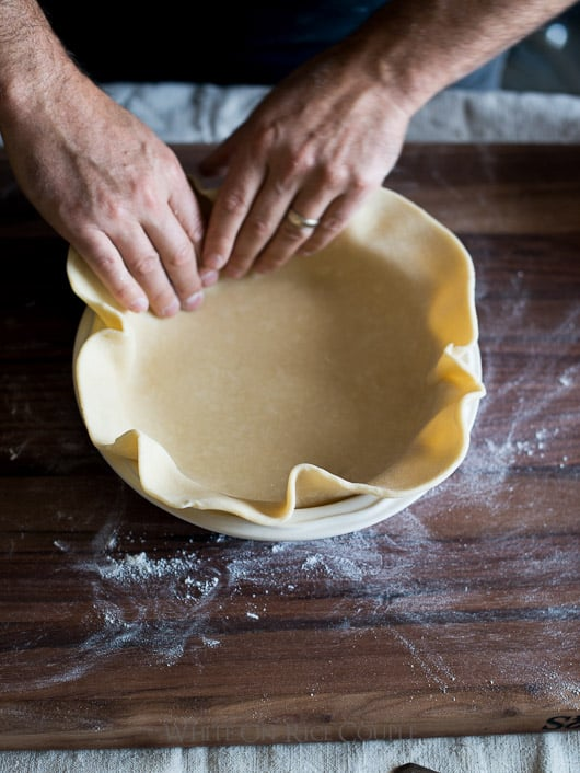 Tutorial on How to make leaf pie crust designs. Leaf Pie Dough | @whiteonrice