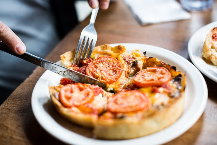 Lou Malnadis Chicago Deep Dish Pizza | @whiteonrice