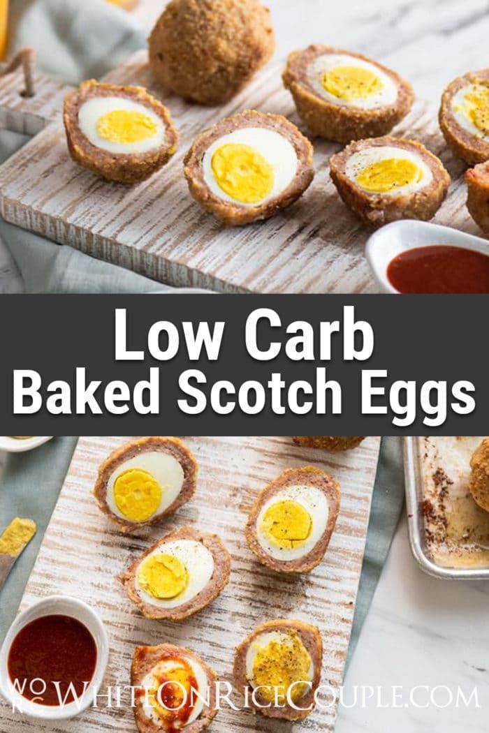 Baked Scotch Eggs Recipe that's Low Carb Keto | WhiteOnRiceCouple.com