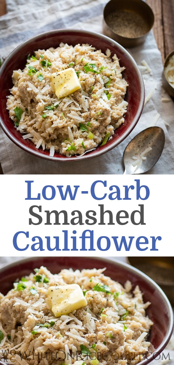 Smashed Cauliflower Recipe Low Carb and Healthy | WhiteOnRiceCouple.com