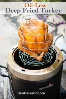 Oil Less Deep Fried Turkey in Air Fryer