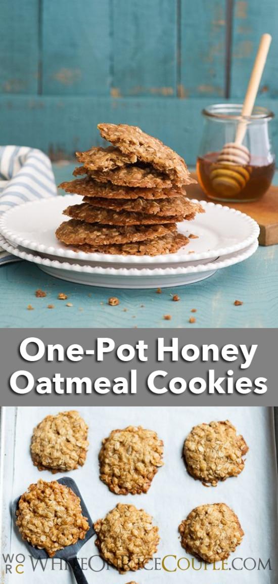 One Pot Honey Oatmeal Cookies Recipe   WhiteOnRiceCouple.com