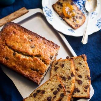 Orange Chocolate Pound Cake Recipe @whiteonrice
