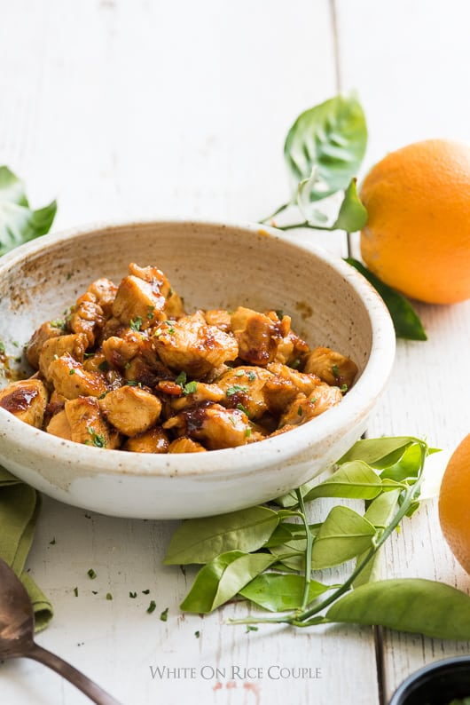 Best Orange Chicken Recipe from Fresh Orange Juice | @whiteonrice