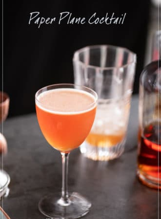 Paper Plane Cocktail Recipe with Bourbon | WhiteOnRiceCouple.com