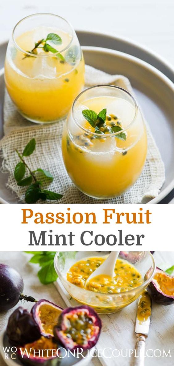 Passion Fruit Cooler Recipe Passion Fruit Recipe @whiteonrice