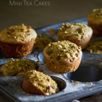 Pistachio Olive Oil Mini Tea Cakes Recipe | WhiteOnRiceCouple.com