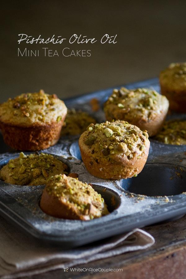Pistachio Olive Oil Mini Tea Cakes Recipe | WhiteOnRiceCouple.com