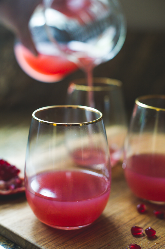 Pomegranate Gin Cocktail (Or Vodka) Cocktail for Celebrating | @whiteonrice