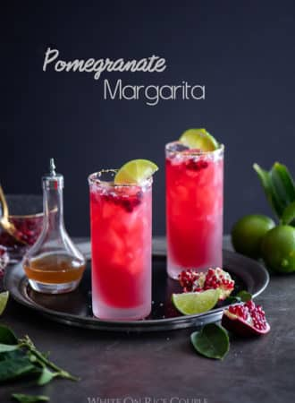 Pomegrante Margarita Recipe for Best Holiday Cocktail Recipes @whiteonrice
