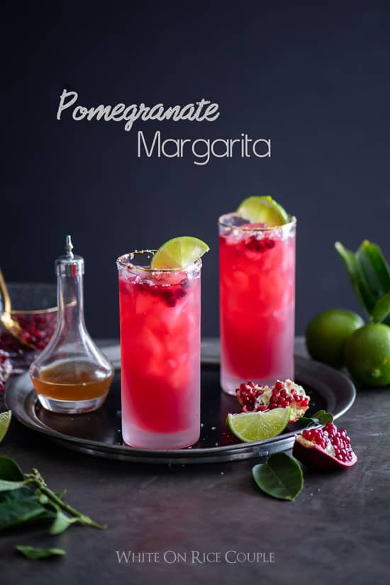 Pomegranate Margarita Recipe for Best Holiday Cocktail Recipes @whiteonrice