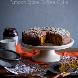 Pumpkin Coffee Cake Recipe @WhiteOnRice